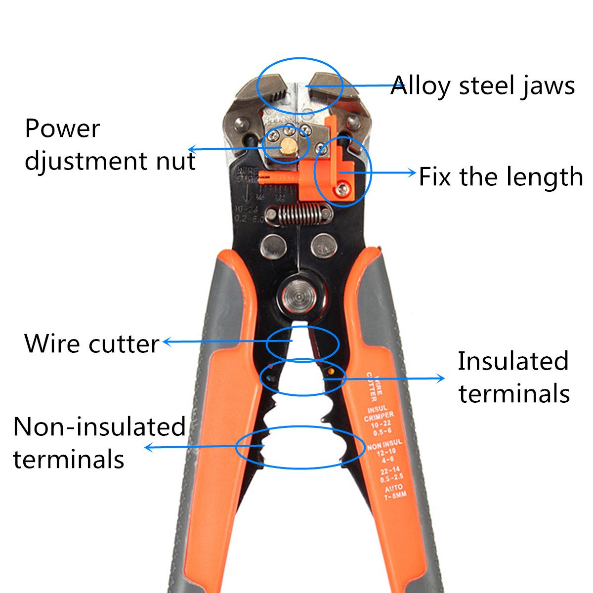 Agile-shop Professional Multifunction Automatic Wire Cutter Stripper Crimper Pliers Terminal Tool