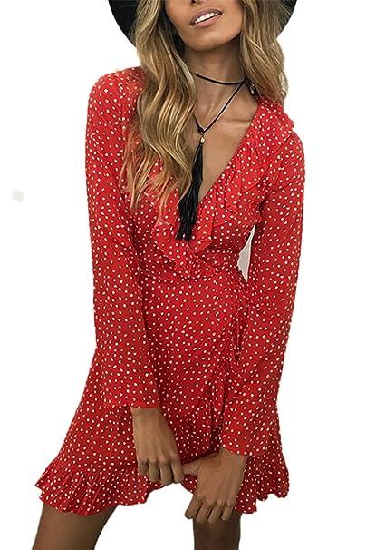Babyonlinedress Vestido de verano para mujer estilo vintage a 60 años vestido corto para fiesta de