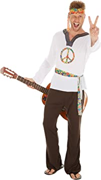 TecTake dressforfun Disfraz de Hippie Jimmy para Hombre | Camisa ...