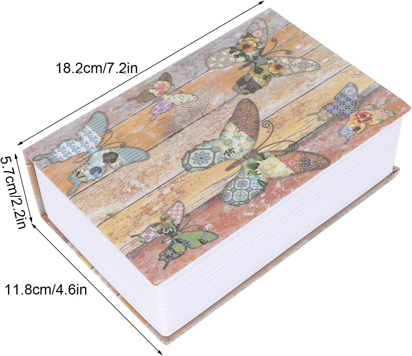 Coffre-fort mini bo/îte /à monnaie de livre de simulation papier textur/é en acier inoxydable de conception humanis/ée pour le bureau /à domicile