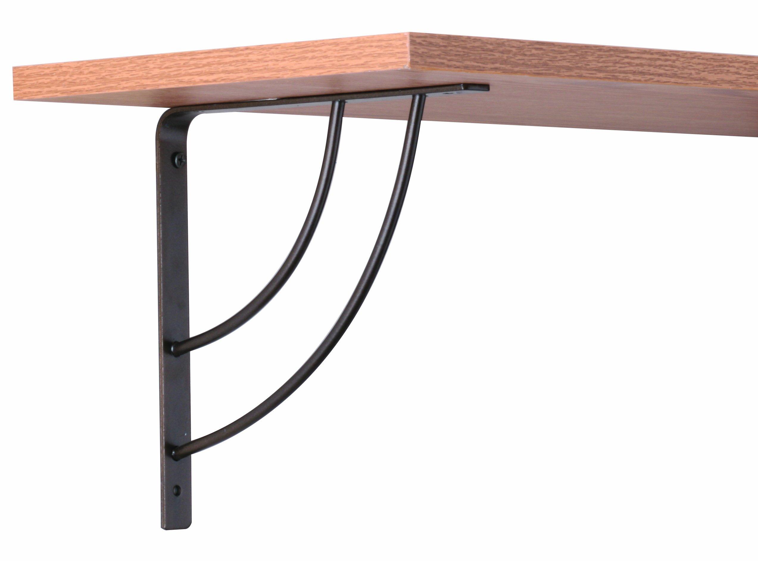 John Sterling Milano Style Decorative Shelf Bracket, 8-inch, Bronze, RP-0087-8BRZ by John Sterling