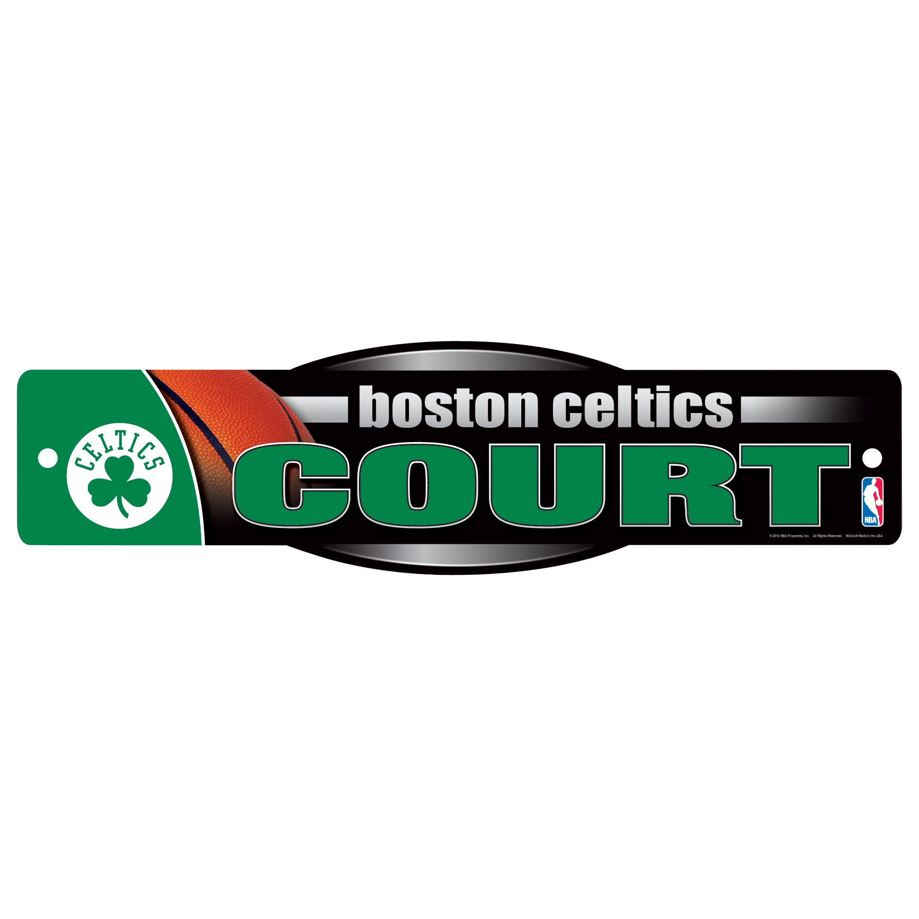 NBA Boston Celtics Sign, 4.5 x 17-Inch