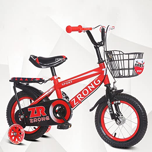 ZPWSNH Bicicleta para niños Cochecitos para niños de 14 Pulgadas ...