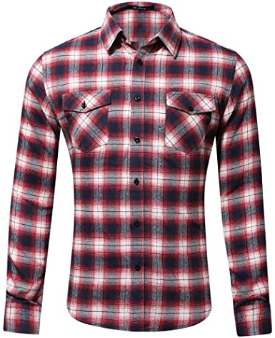 Camisa para Hombre De La Ropa Tela Festiva Escocesa De La ...