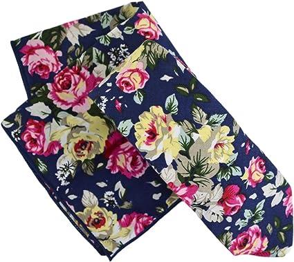 VREELANT Corbata + pañuelo flores: Amazon.es: Ropa y accesorios