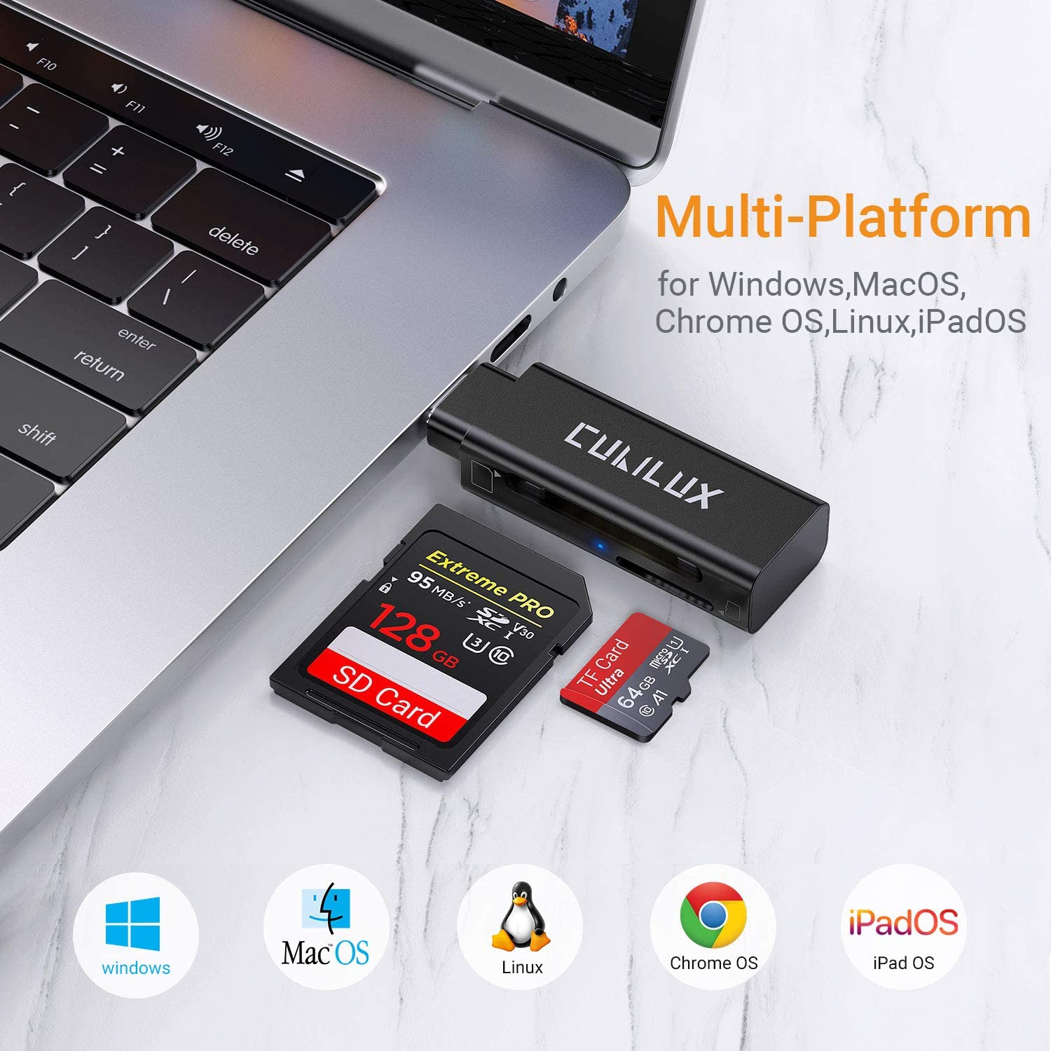 PRO USB 3.0 Card Reader Works for Samsung Galaxy A50s Adapter to Directly Read at 5Gbps Your MicroSDHC MicroSDXC Cards