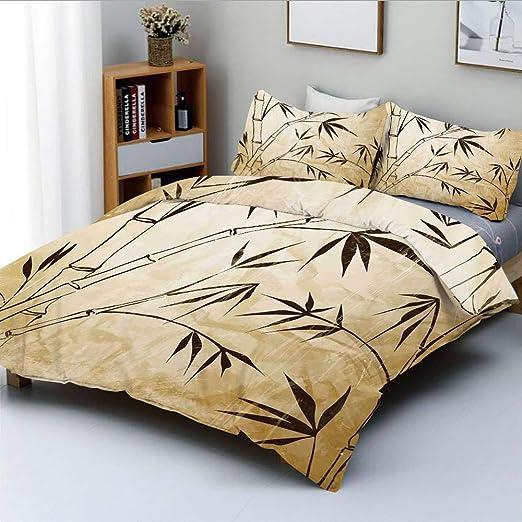 Juego De Funda Nórdica Hojas De Bambú Degradado