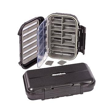 Snowbee slit-foam/compartimento impermeable cajas para moscas ...