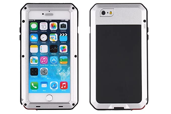 official photos e9e9a b8dbe iPhone 6 Case, Shockproof Dustproof Waterproof iPhone 6S Case Aluminum  Alloy Metal Gorilla Glass Cover Case For Apple iPhone 6 /iPhone 6S 4.7 ...