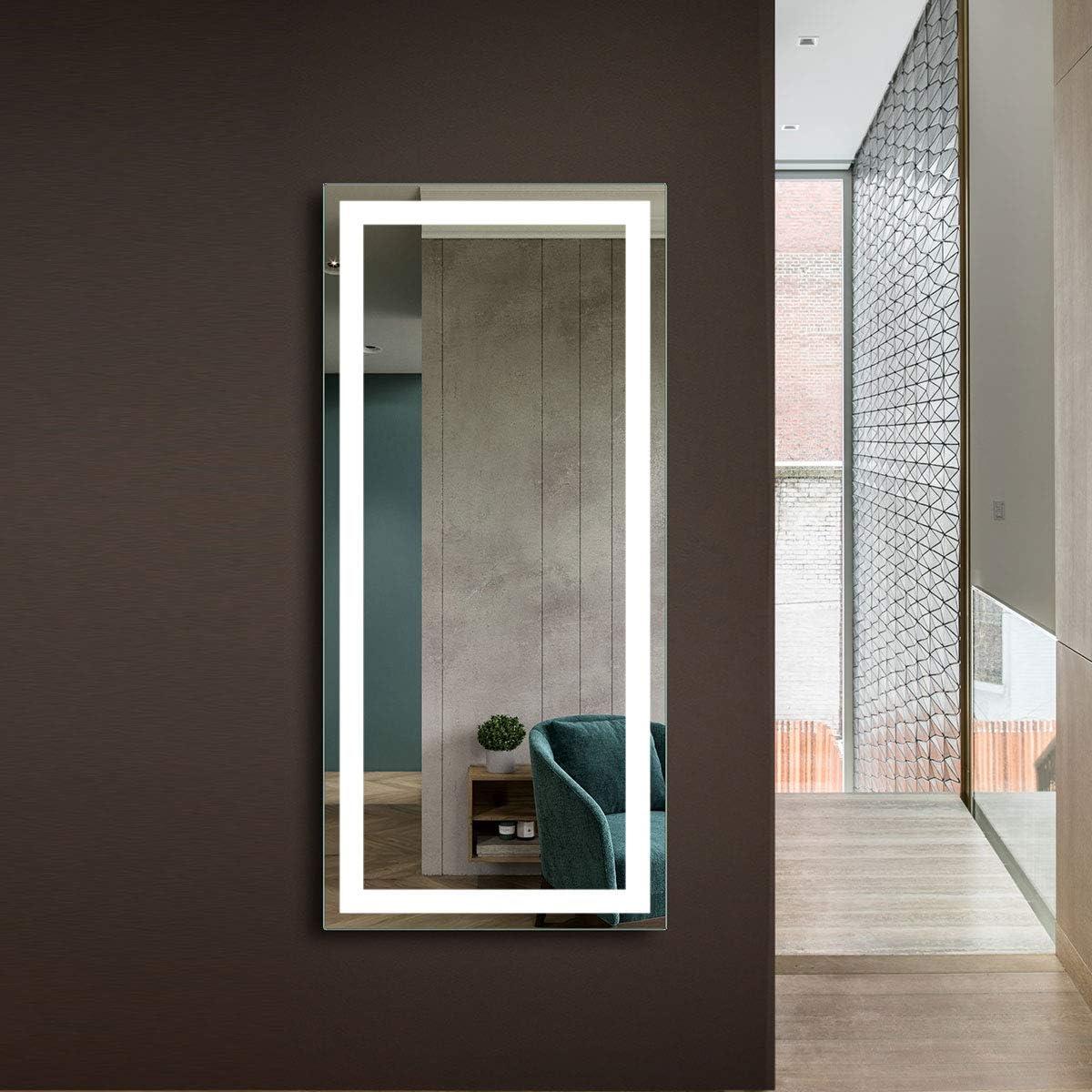 Amazon Com Hyh Full Length Mirror Bedroom Floor Mirror Standing Or Hanging Lighted Oversized Wall Mirror Wall Mirror Decor Lobby Corridor Porch Restaurant D Ck010 Cg Furniture Decor