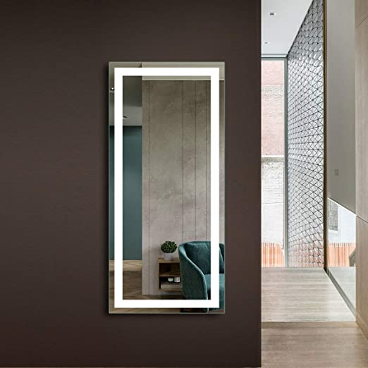 Decoraport Antifog Large 28 X60 Led Full Length Backlit Mirror Oversized Rectangle Dressing Mirror With Infrared Sensor Wall Mounted Full Size Mirror With Lights 010 6028 Gs Amazon Ca Home Kitchen