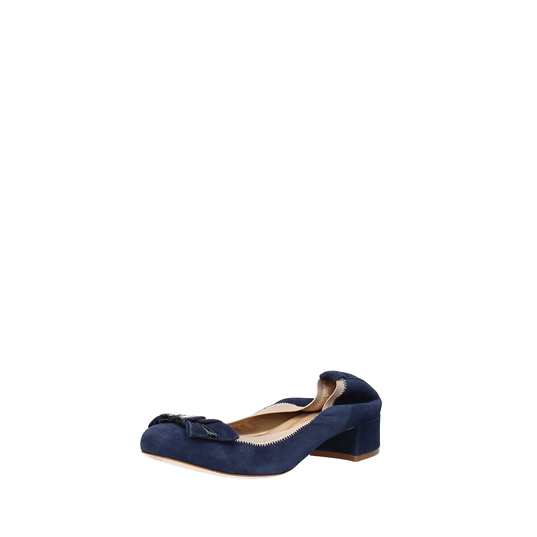 CALPIERRE ballet flats woman BLUE suede AG733 (10 US / 40 EU )