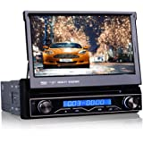 Erisin 1 Din 7 Inch Head Unit Universal Car Stereo GPS Navigation Win8 UI In Car DVD Player Radio with Sat Nav Support Bluetooth/USB/SD/RDS Radio/Subwoofer/1080P Video/External DVB-T Box/Steering Wheel Control (FREE 8GB TF Card and GPS Antenna Included) ES1088M