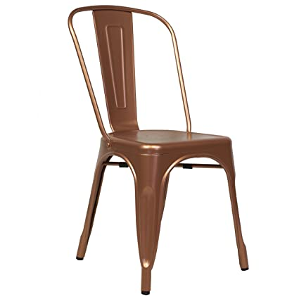 Design Tree Home Tolix Side Chair In Copper Galvanized Steel