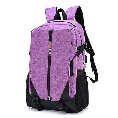 YUEER Sac à Dos Pour Hommes Grande Capacité Sac D'ordinateur étudiant Femme Loisirs Voyage Extérieur Voyage Camping,Purple-OneSize