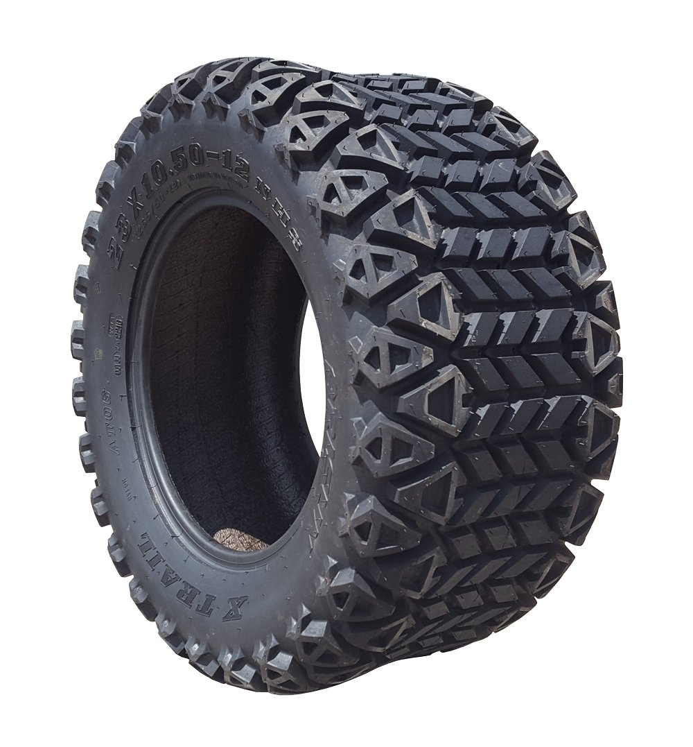 Arisun 23 x 10.5-12 DOT All-Terrain Tire for Golf Carts & ATV's (6 Ply Rating) -- 1, set of 2 or 4 (23 x 10.5-12, 1 Individual tire)