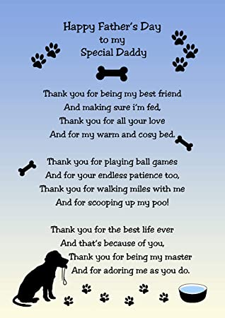 from The Dog Verse Poem Fathers Day Card 8