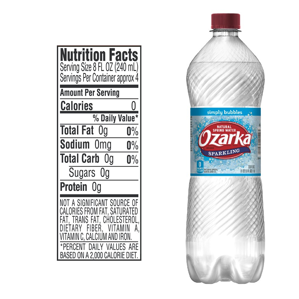 7159101883 Ozarka Sparkling Water, Simply Bubbles, 33.8 Fl Oz. Bottle: Amazon.com:  Grocery & Gourmet Food