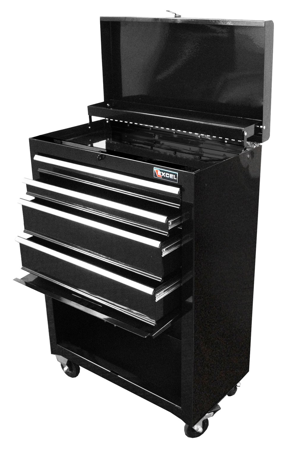 Excel TB2201X-Black 22-Inch Steel Chest Roller Cabinet Combination, Black by Excel