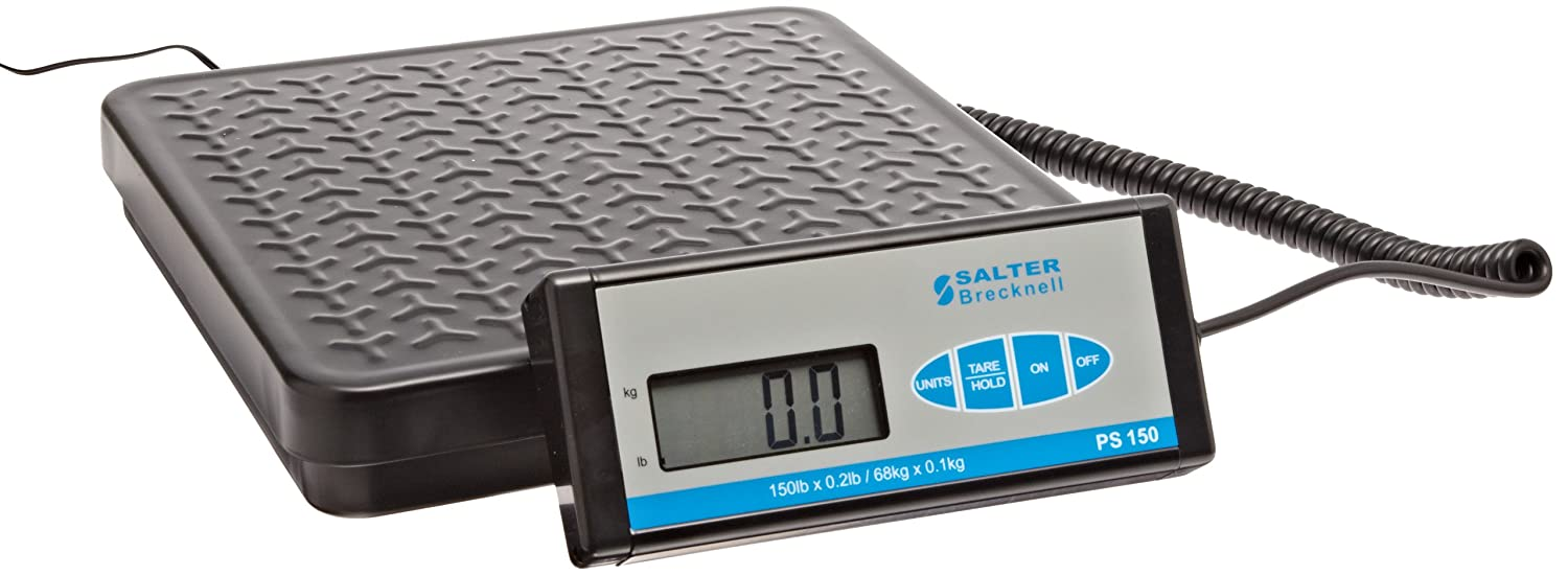 Salter Brecknell PS 150 Digital Parcel Scale with LCD Display, 12-25/128