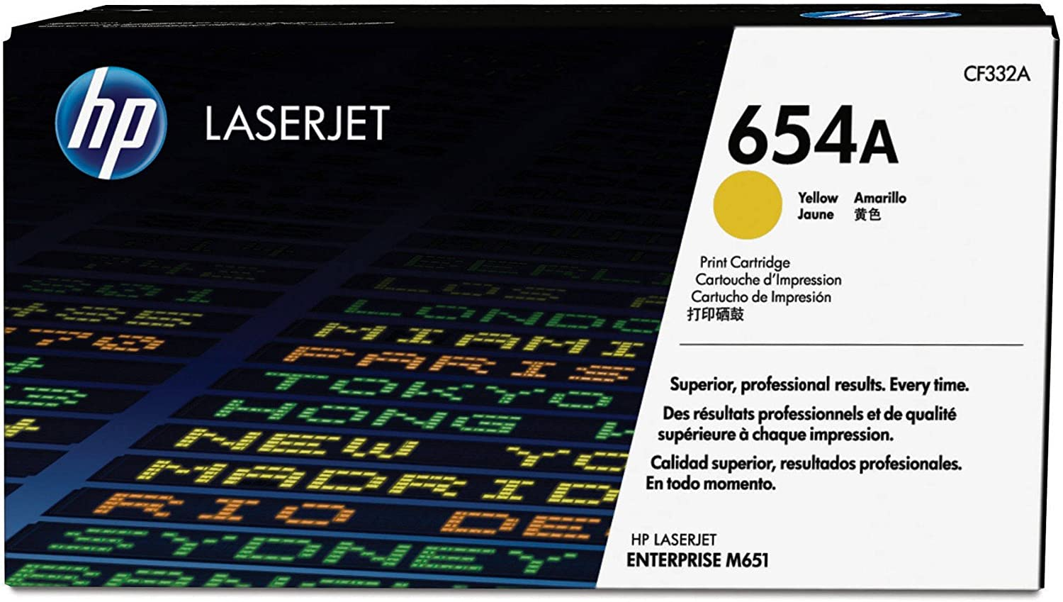 HP 654A | CF332A | Toner Cartridge | Yellow
