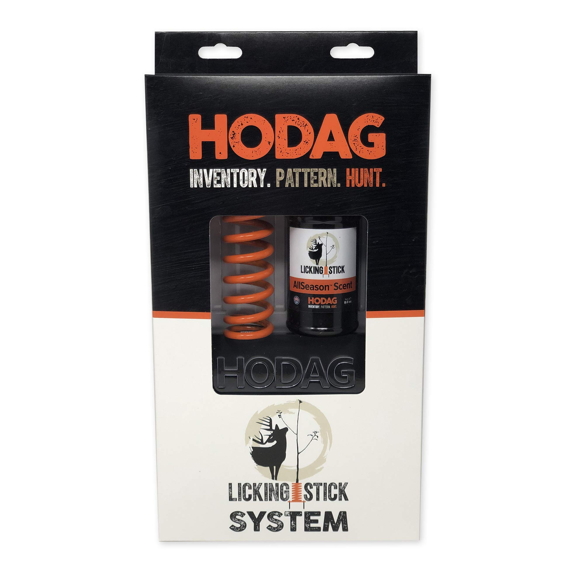 HODAG Licking Stick System - Low Pressure, Natural Way To Inventory and Pattern Deer Year-Round Without Bait Or Minerals (Complete System, Hi-Viz Orange) by HODAG