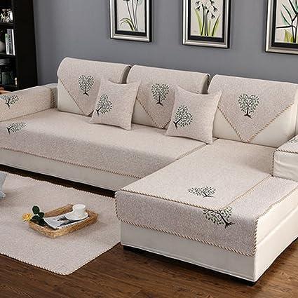 Amazon.com: Q&F Sofa Covers L Shaped Couch Slipcover Anti-Slip ...