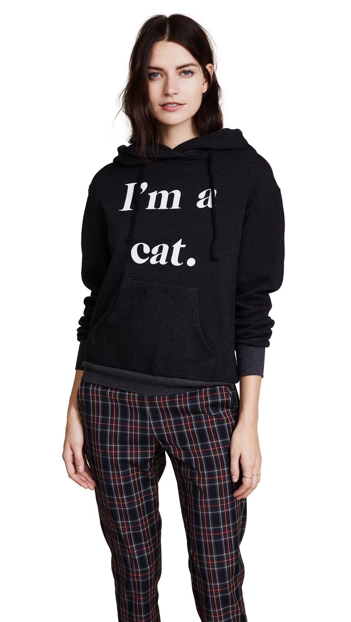 Wildfox Women's I'm a Cat Hoodie, Black, Medium