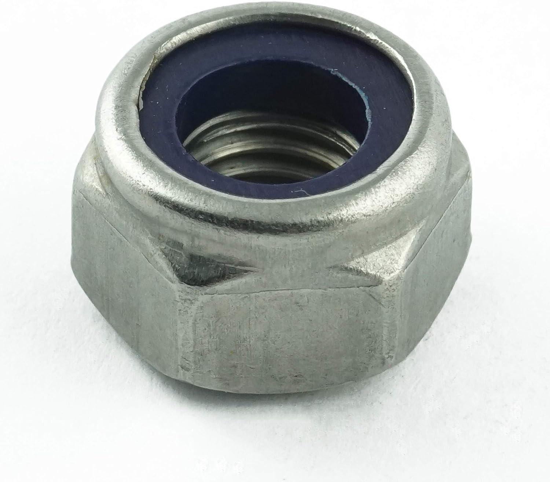 Eisenwaren2000 100 St/ück - selbstsichernde Stoppmuttern niedr ISO 10511 rostfrei M10 Sicherungsmuttern Form DIN 985 Edelstahl A2 V2A