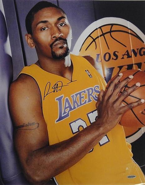 594d387edbd3 Ron Artest Metta World Peace Signed Autographed 16x20 Photograph Lakers UDA  Blak