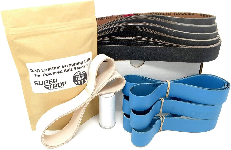 Kit completo de cinturón de afilado de 1 x 30 pulgadas con ...