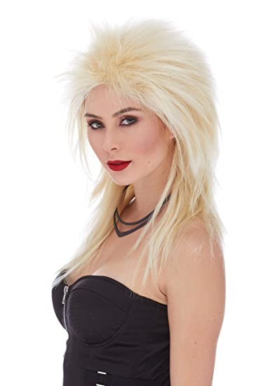 Amazon.com: Long Rocker Color 22 Blonde - Sepia Wigs Deluxe ...
