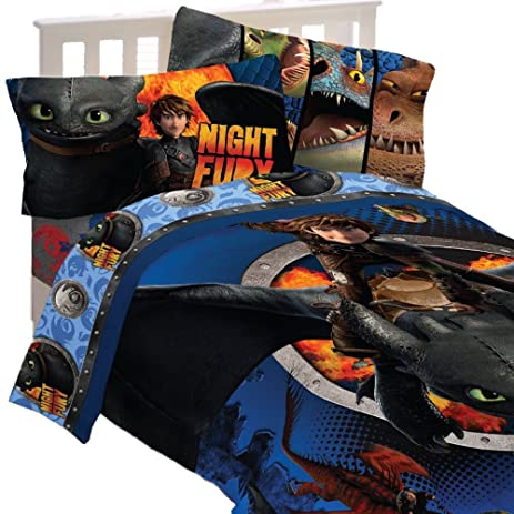 Amazon how to train your dragon 2 twin size comforter and twin how to train your dragon 2 twin size comforter and twin size sheet set ccuart Gallery