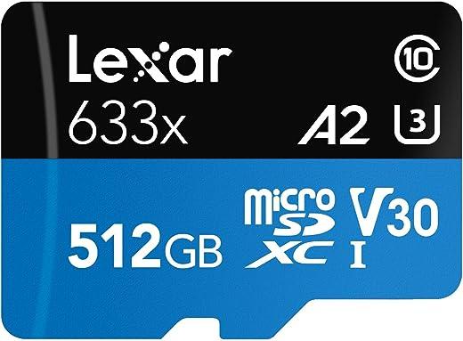 Lexar High-Performance 633X 512GB MicroSDXC UHS-I Card