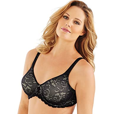 8b9cd1d4ebc63 Lilyette Women s Beautiful Support Lace Minimizer