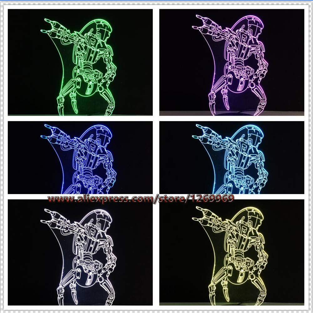 Suuyar Lámpara 3D Led Visual Led Escritorio Villano Jedi ...