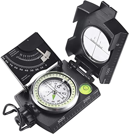 Military Optical Lensatic Sighting Compass Waterproof for Outdoor Activities