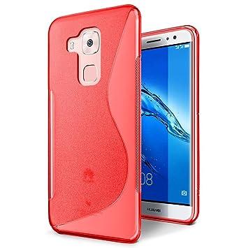 Conie SC10166 S Line Case Kompatibel mit Huawei Nova Plus, TPU Smartphone Hülle Transparent Matt Rutschfeste Oberfläche für N