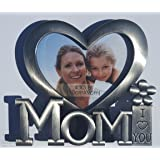Mothers Day Photo Frame - I Love You Mom Gifts For Mothers Day Gifts From Daughter Or Son. Prime Mother's Day Picture Frame.