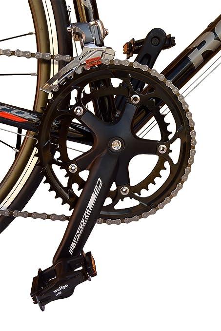 Bicicleta de carretera Rocasanto C-FORK, tamaño ruedas 26, cuadro aluminio color negro: Amazon.es: Deportes y aire libre