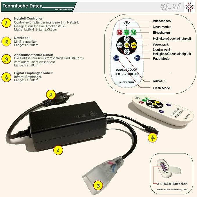 IP68 wasserdicht H+H Leipzig 10x durchsichtige PVC Befestigungsklammer Klammern zur Befestigung der 230V LED Strip LED Streifen