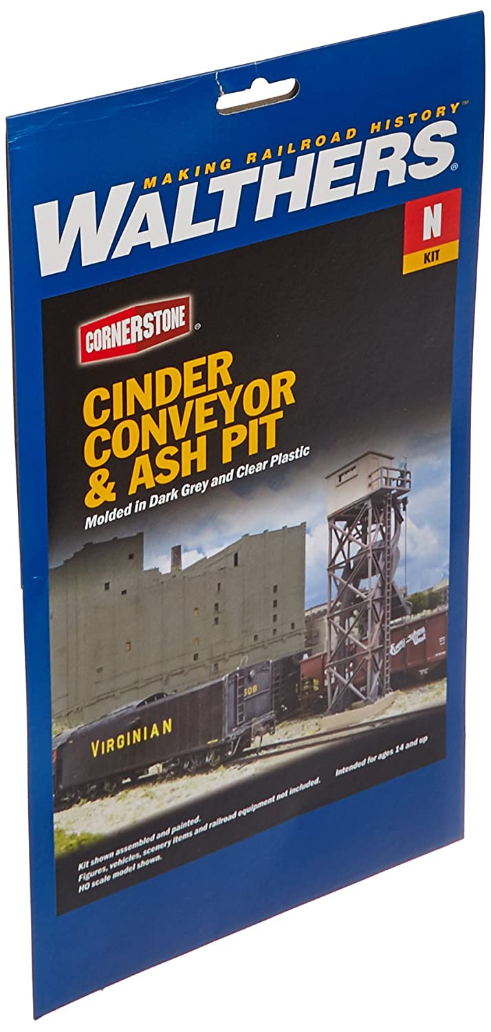 Cinder Conveyor /& Ash Pit Kit Walthers 3//4 X 3 2.9 X 4.5 X 7.6cm Inc