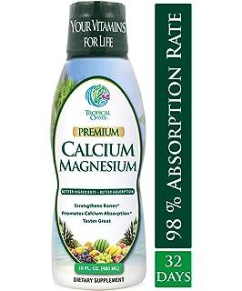 Tropical Oasis Liquid Calcium & Magnesium - Natural formula w/ support for strong bones -