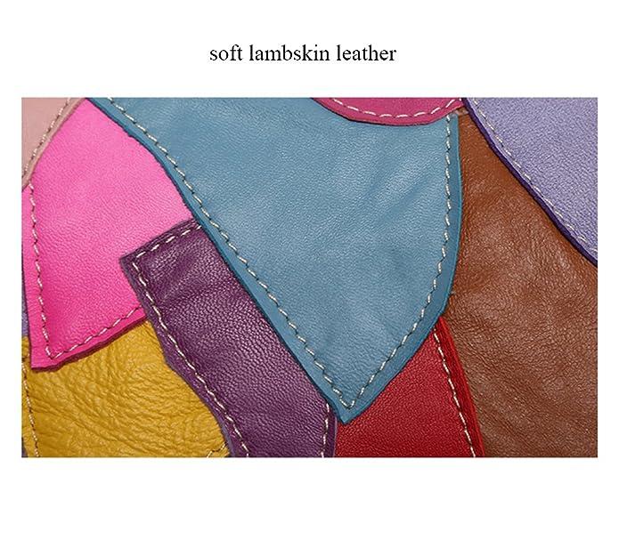 Sibalasi-Women Colorblock Lambskin Leather Multicolor Crossbody Bag Black  Handbag Halloween Skull Studded Purse(AMulticolor)  Handbags  Amazon.com 807c9cae380da