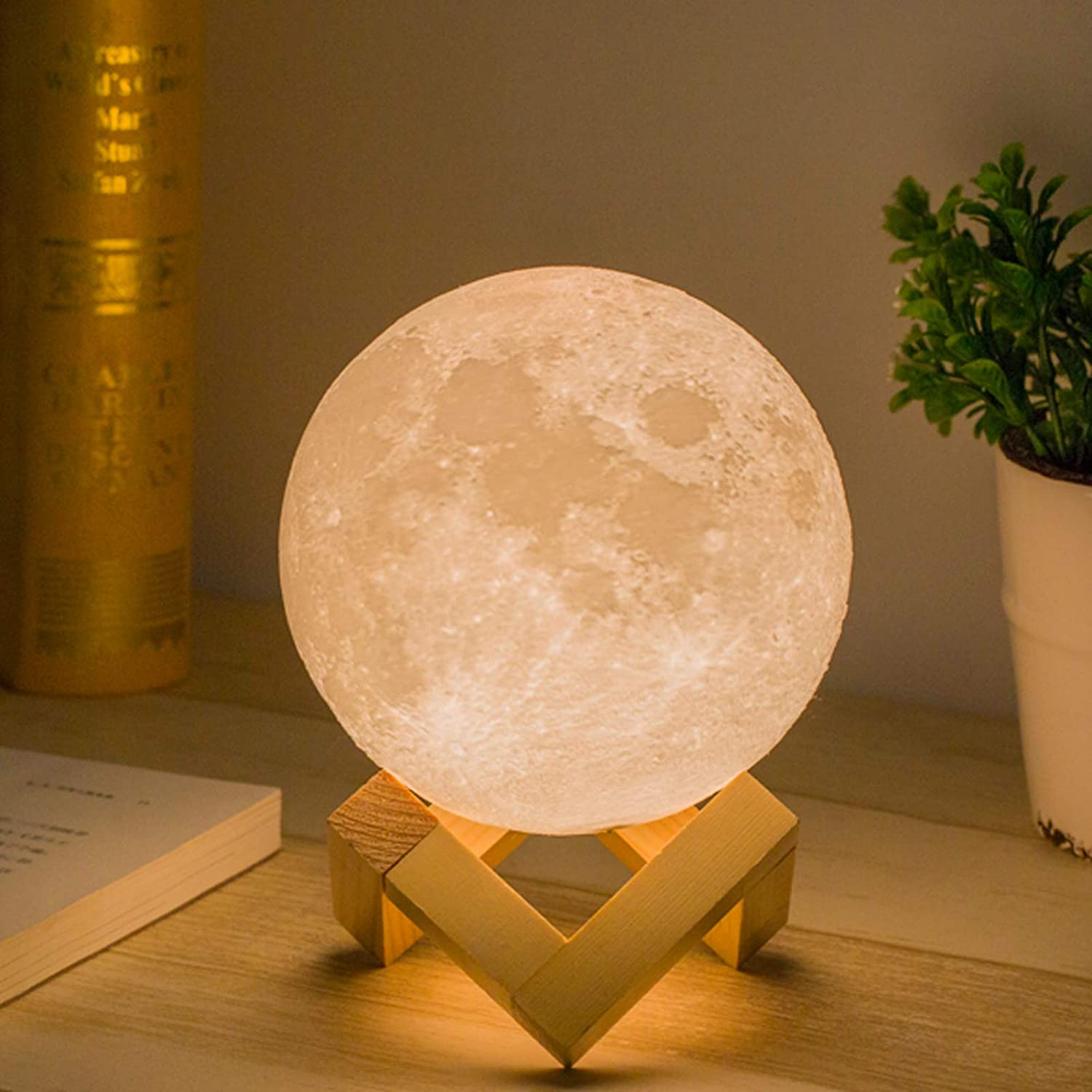 Out of all the gift ideas for women over 40, a moon lamp is the most precious and unique. This attractive moon lamp glows beautifully wherever you place it. Your loved one is definitely going to place it in her bedroom and will smile whenever she looks at it.