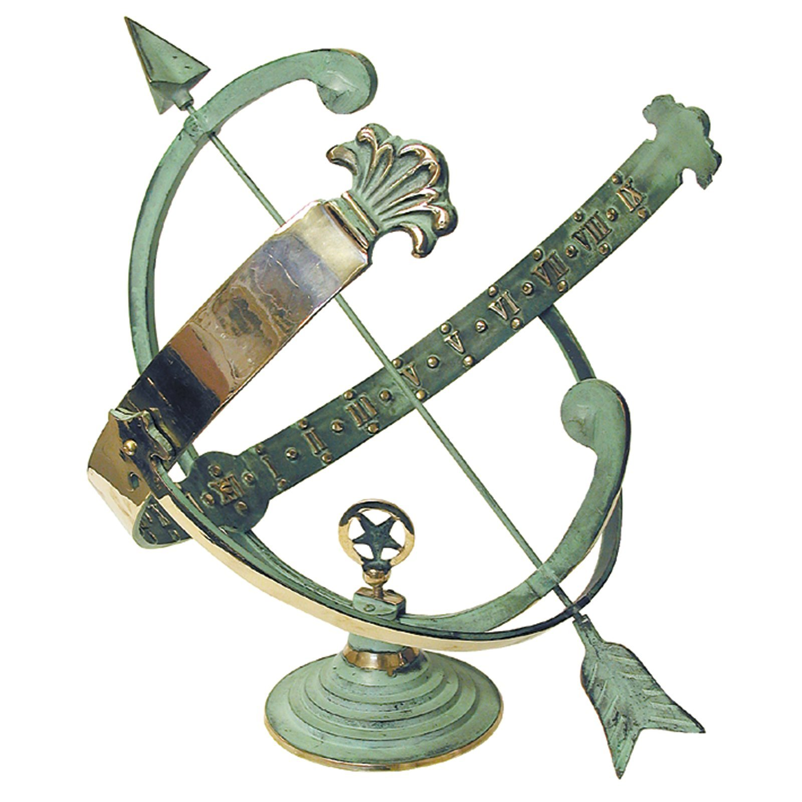 Rome RM1336 Polished Brass 18-Inch Diameter Armillary Sundial by Rome Industries