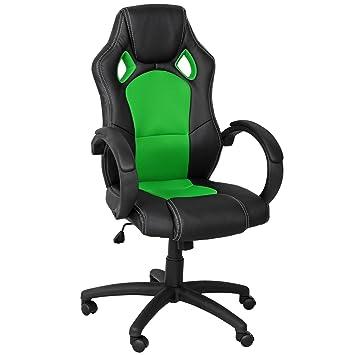 Coole Bürostühle premium sportsitz chefsessel bürostuhl racer schwarz grün 59811