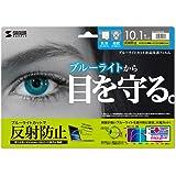 サンワサプライ 10.1ワイド対応ブルーライトカット液晶保護指紋反射防止フィルム LCD-101WBCAR