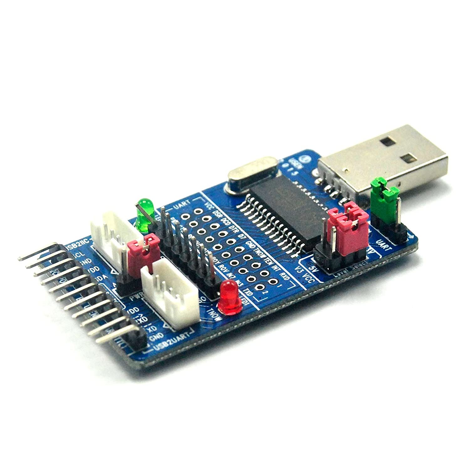 All In 1 Usb To Spi I2c Iic Uart Ttl Isp Converter Serial Adapter Computers Accessories