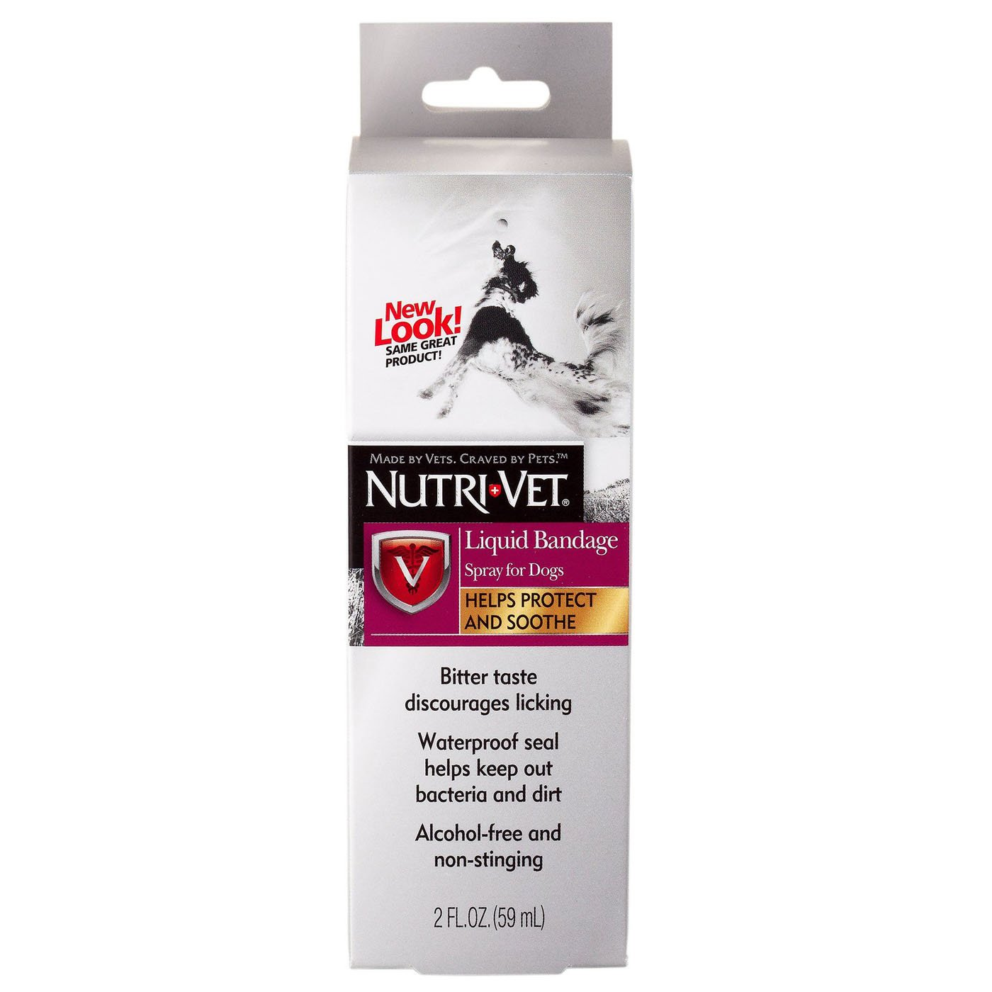 Nutri Vet Pet Liquid Bandage Dog Liquid Bandage Spray Alcohol Free Minor Wound Protection and Soothing Waterproof Seal 2 Oz